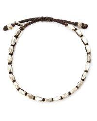 M. Cohen Metallic Faceted Bead Bracelet for men
