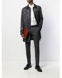 Пальто С Вышивкой Etro для него, цвет: Black