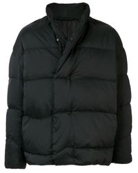 Attachment Black High-neck Puffer Jacket for men