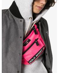 メンズ Polo Ralph Lauren ナイロンベルトバッグ Pink