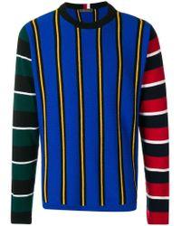 Tommy Hilfiger Blue Contrast Knitted Jumper for men