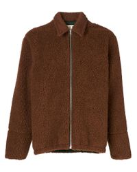 Marni Brown Textured Jacket for men