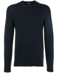 Roberto Collina Blue Crewneck Sweater for men