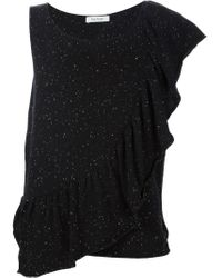Ryan Roche Black Asymmetric Sleeve T-shirt