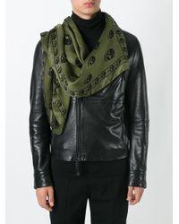 Alexander McQueen - Green Skull Scarf for Men - Lyst