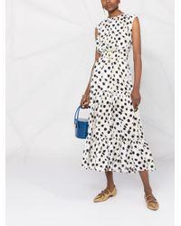 Boutique Moschino ポルカドット ベルテッドドレス Multicolor
