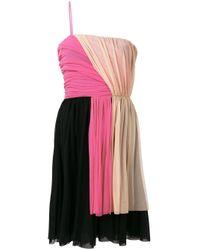 MSGM カラーブロックドレス Black