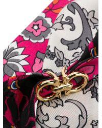Bandeau con stampa di Ferragamo in Pink