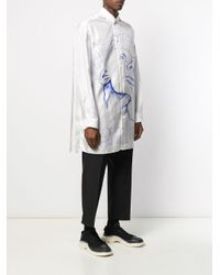 OAMC Seidenhemd mit Zeichnungs-Print in White für Herren