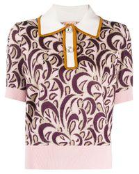 Polo en maille N°21 en coloris Pink