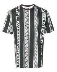 Camisa con logo estampado Fila de hombre de color Black