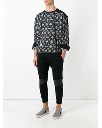 KTZ Black Monogram Sweatshirt