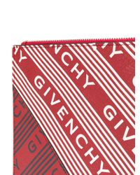 Givenchy ロゴ プリント クラッチバッグ Red