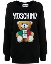 Moschino ベアモチーフ スウェットシャツ Black