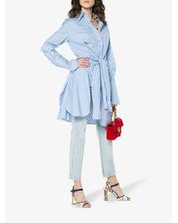 Dolce & Gabbana Blue Keira Majolica And Leopard Print Sandals