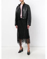 3.1 Phillip Lim - Black Zipped Biker Jacket - Lyst