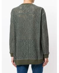 See By Chloé | Green Pointelle Oversized Sweater | Lyst