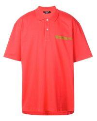 メンズ CALVIN KLEIN 205W39NYC オーバーサイズ ポロシャツ Red