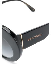 Gafas de sol oversize con montura cat eye Dolce & Gabbana de color Black