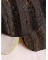 Monies Black Horn Disc Pendant Necklace