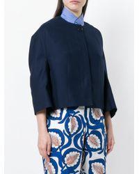 Marni - Blue Cropped Jacket - Lyst