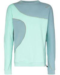 Asics X Kiko Kostadinov Two Tone Sweater in Blue for Men - Lyst
