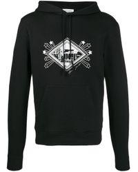 Худи С Графичным Принтом Saint Laurent для него, цвет: Black