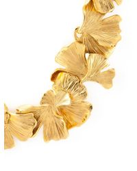Aurelie Bidermann Metallic Ginkgo Necklace