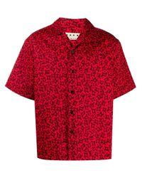 メンズ Marni ショートスリーブシャツ Red