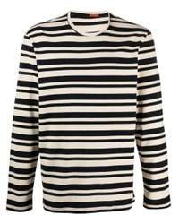 Barena Blue Stripe-print Cotton T-shirt for men
