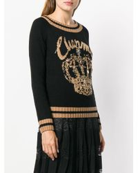 Twin Set Black Crown Knit Sweater