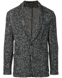 Tomorrowland Black Classic Fitted Blazer for men