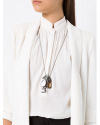 Camila Klein - Metallic Penca Com Strass Necklace - Lyst