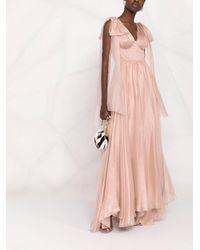 Maria Lucia Hohan Inna シルク プリーツドレス Pink