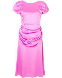 Maryam Nassir Zadeh シャーリング ミニドレス Pink