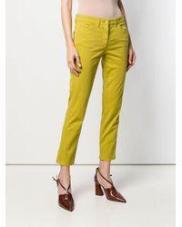 Jean droit classique Luisa Cerano en coloris Yellow