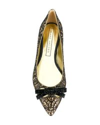 Marc Jacobs Black Bow-embellished Ballerina Flats