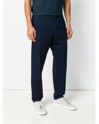 Z Zegna Blue Straight-leg Denim Trousers for men