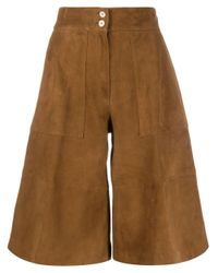 Pantalones cortos acampanados PT01 de color Brown