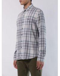 Camisa de cuadros con botones Michael Bastian de hombre de color White