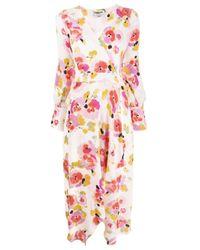 Essentiel Antwerp Valoumi フローラル ラップドレス Pink