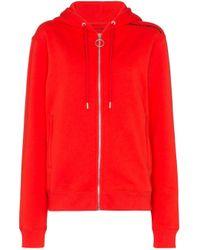 Sweat à capuche à logo imprimé Paco Rabanne en coloris Red