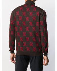 メンズ Fendi Karligraphy Ff モノグラムセーター Multicolor