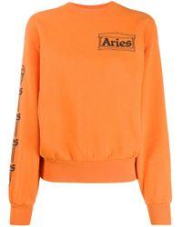 Aries ロゴ スウェットシャツ Orange