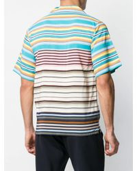 Chemise rayée à manches courtes Prada pour homme en coloris Green