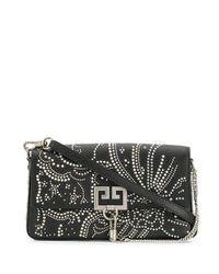 Pochette cloutée à chaîne Givenchy en coloris Black