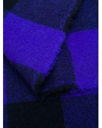 Daniela Gregis カシミア チェック スカーフ Purple