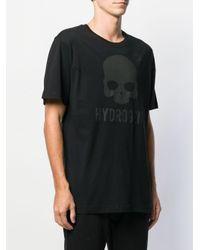 Camiseta con logo estampado Hydrogen de hombre de color Black