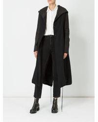 Masnada - Black Hooded Parka Coat - Lyst