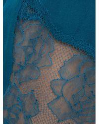 Fleur du Mal Blue Rose Lace Tap Shorts